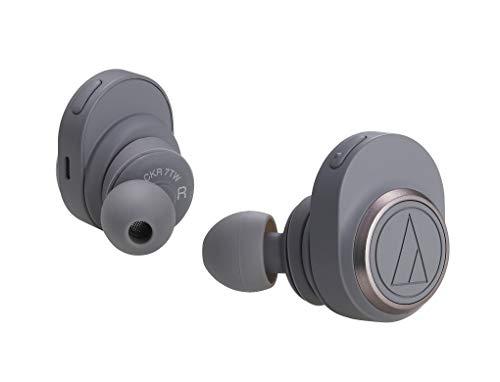 オーディオテクニカ audio-technica 完全ワイヤレスイヤホン ATH-CKR7TW GY / Bluetooth対応 左右分離型 グレー