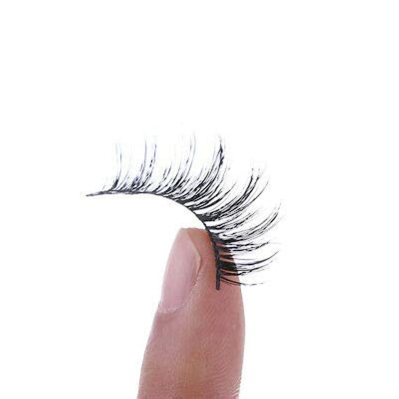 分子怒って起訴するFidgetGear 1ペアクロス手作りつけまつげまつげエクステンション100%リアルミンク髪