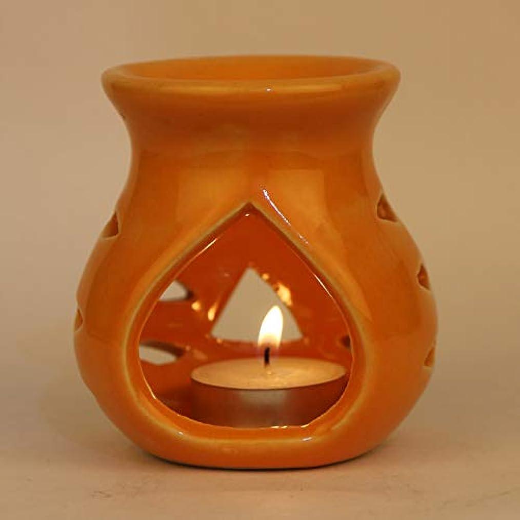 プログレッシブデッドロックボトルPure Source India. セラミックアロマバーナーオレンジカラープレミアムカラーオレンジ、このアロマのサイズは高さ3.5インチ、直径3.5インチです。 (クレイランプ)