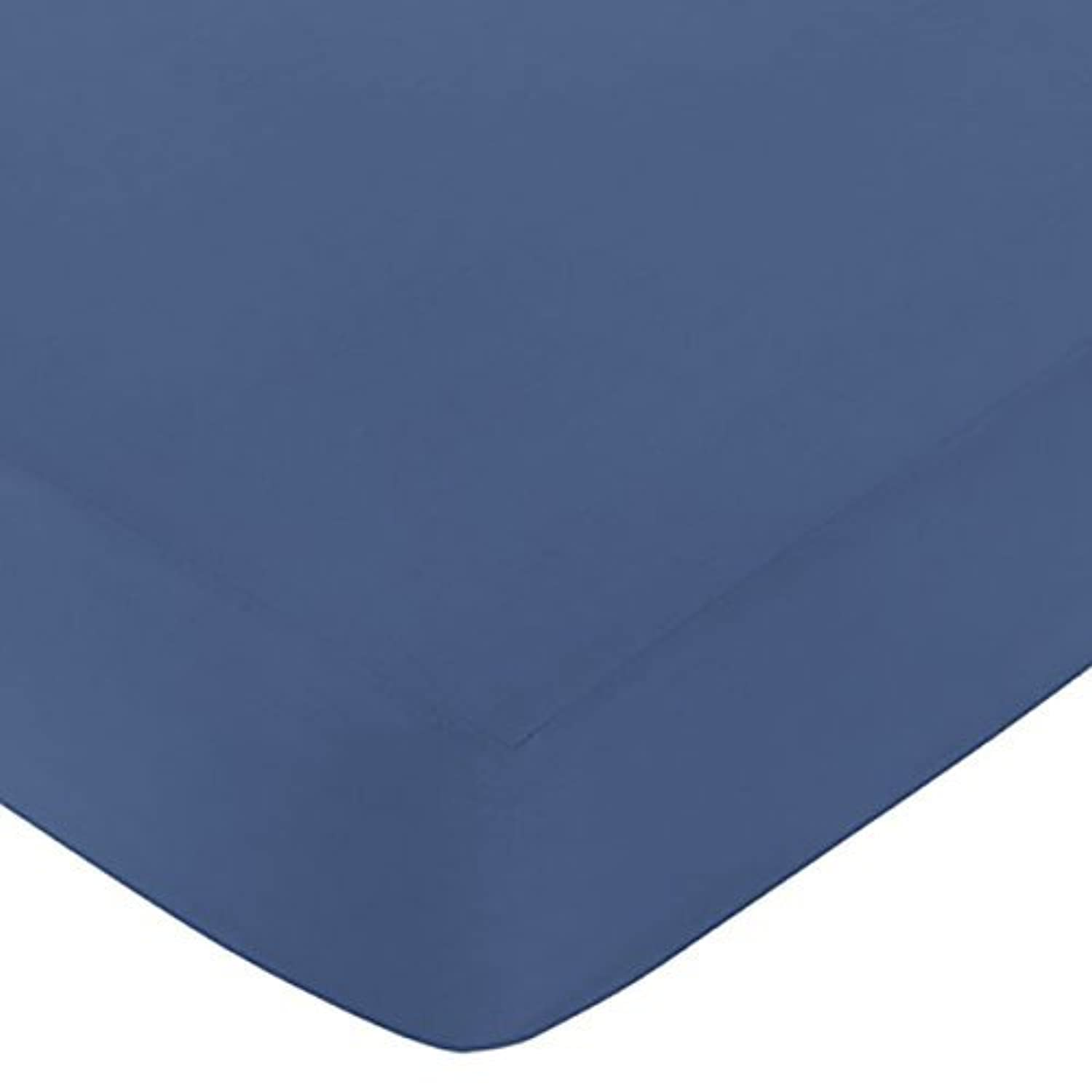 Sweet Jojo Designs Fitted Crib Sheet for Space Galaxy Baby/Toddler Bedding Set Collection - Light Blue [並行輸入品]