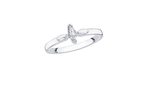 G-H,I2-I3 Diamond Wedding Band in Sterling Silver 1//4 cttw, Size-5.75