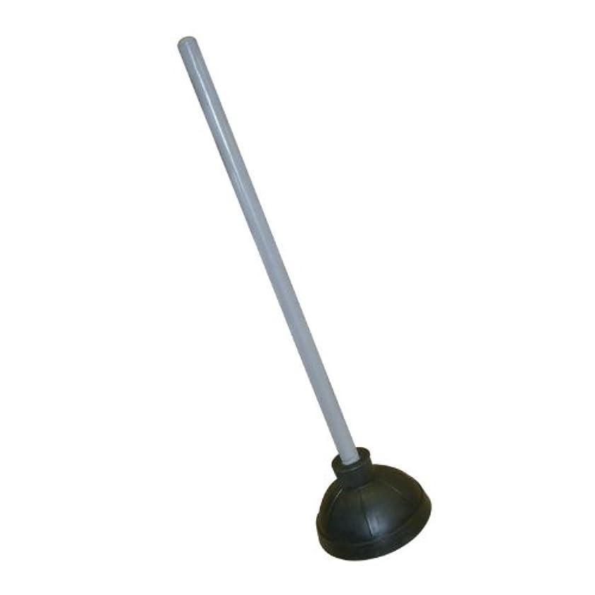 振りかけるイライラするアクロバットExcellante Plastic Plunger with 21-Inch Long Wooden Handle, Black by Excellant