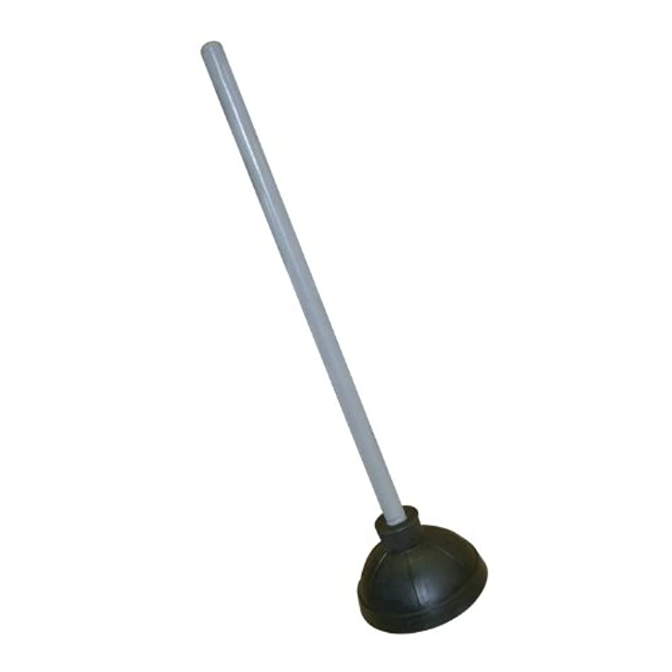 ウサギ役に立つ市の花Excellante Plastic Plunger with 21-Inch Long Wooden Handle, Black by Excellant