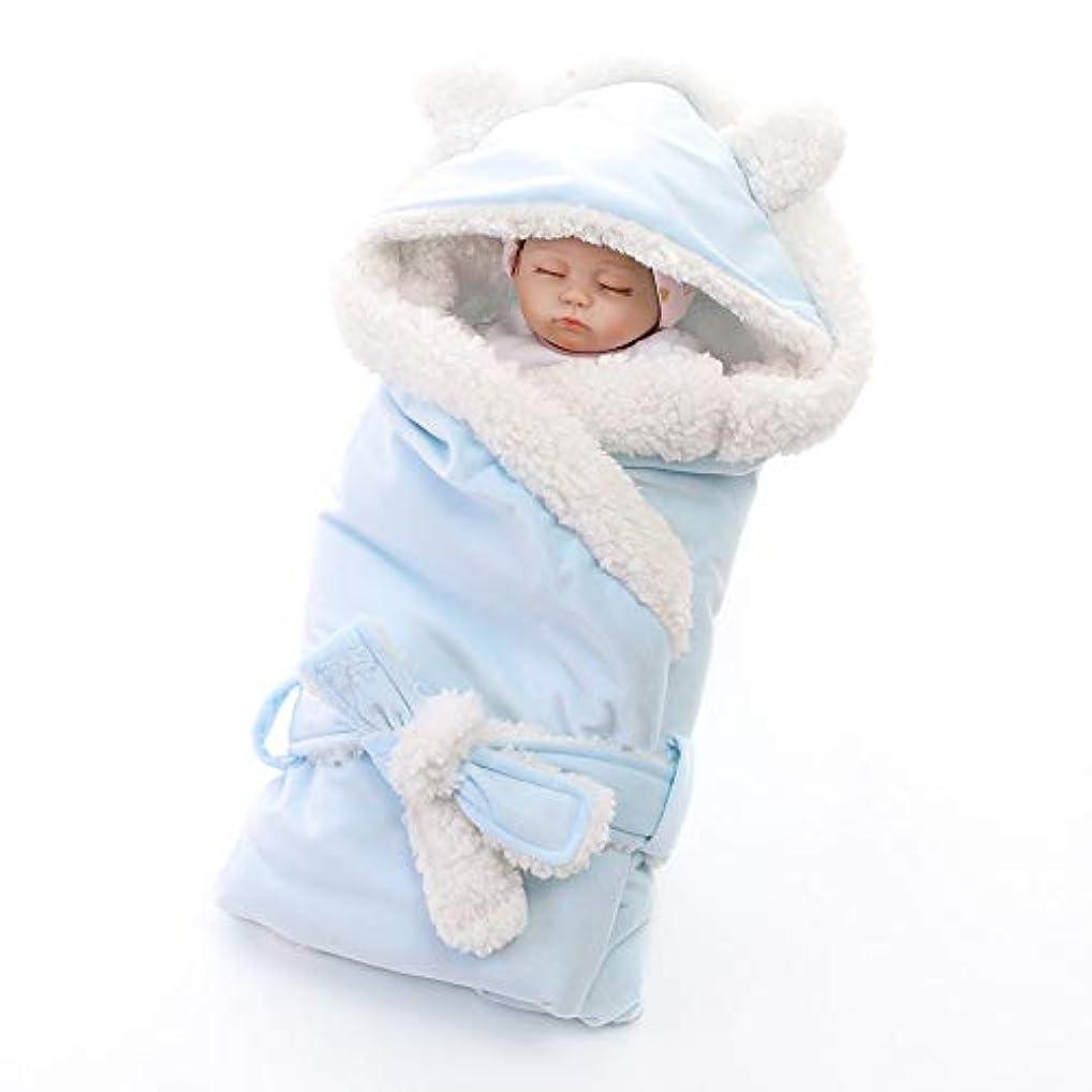 アッパーネストドループベビー寝袋 調節可能なつつくブランケットベビーブランケットパジャマソフトマイクロぬいぐるみベビースリーピングバッグを着用 新生児睡眠カプセル (色 : 青, サイズ : 80*80cm)