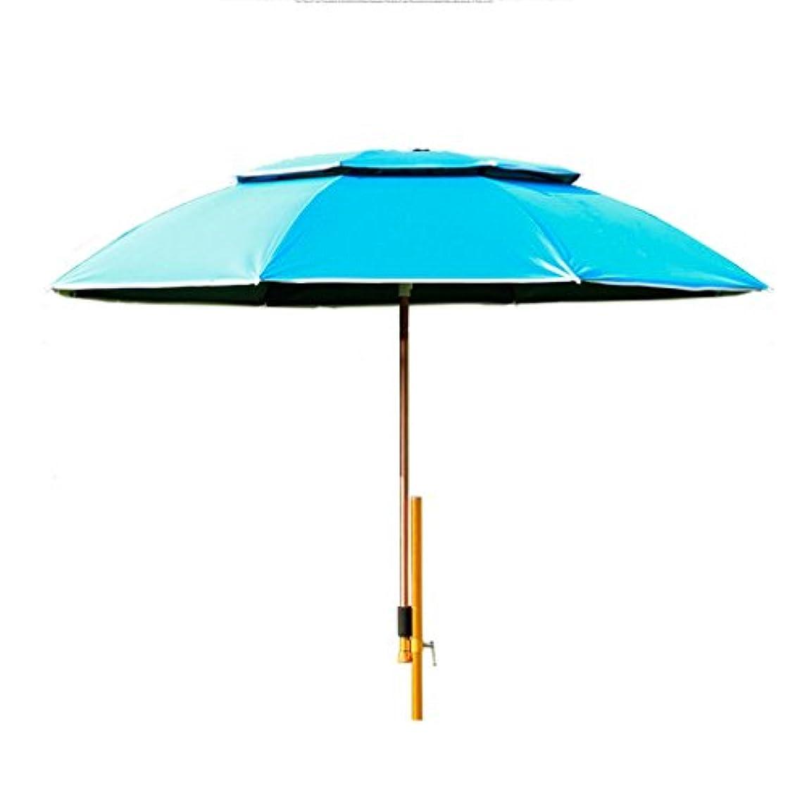 資金フォーカスインシデントLSS 屋外アンブレラ 釣り傘 傘 防風 ユニバーサルフィッシング傘 レインコート  UVプロテクション サンシャイン釣り傘 釣りタックル (色 : 青)