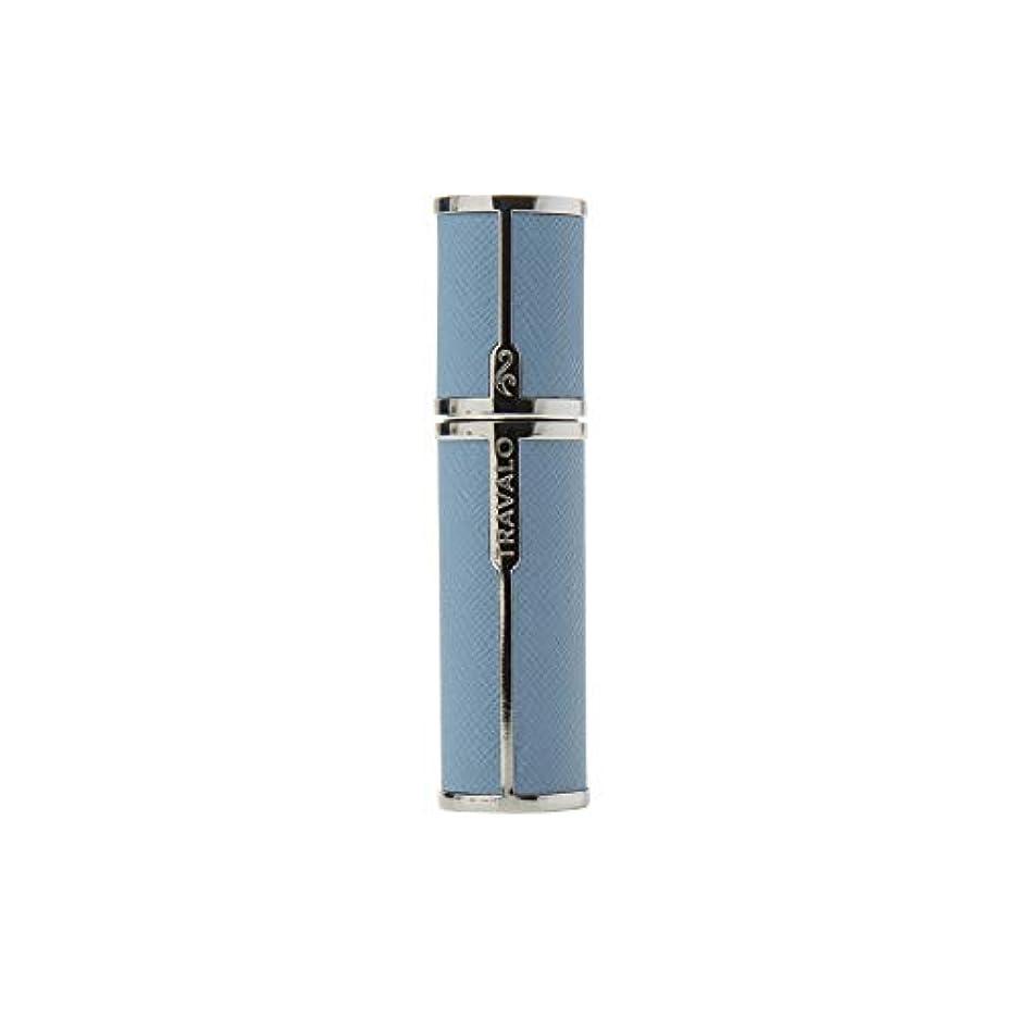 鼻教科書肯定的TRAVALO (トラヴァ―ロ) ミラノ アトマイザー ライトブルー 香水 旅行 携帯 詰め替え ボトル 簡単 香水スプレー