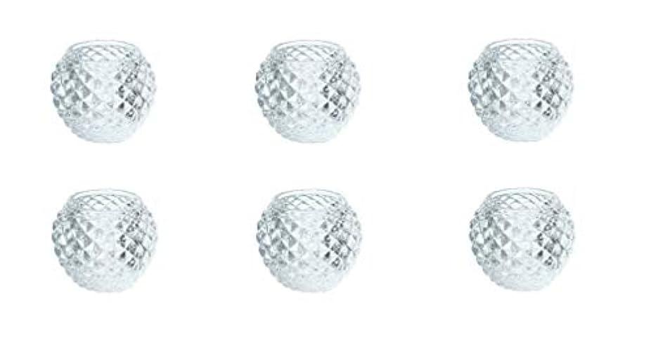 パール基本的な時計回りカメヤマキャンドルハウス ダイヤモンドボール J5300000 6個入り