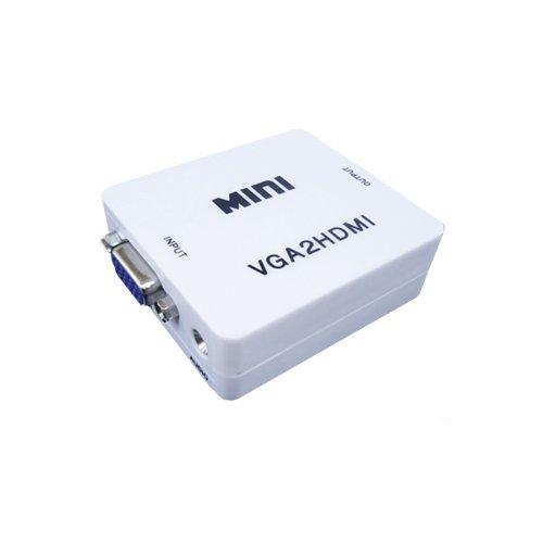 【ノーブランド品】VGA to HDMI 変換アダプタ