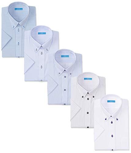 [アトリエサンロクゴ] ワイシャツセット 半袖 ワイシャツ 5枚セット 形態安定 クールビズ メンズ Dset-SS-19 日本 M(39) (日本サイズM相当)