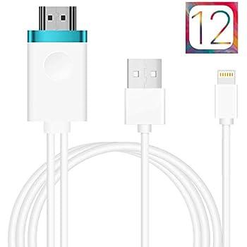 【最新版】アイフォンHDMI変換ケーブル Lightning to HDMI接続アダプタ 1080P高解像度対応iPhone iPad ipod 最新iOS自動対応 設定不要 APP不要