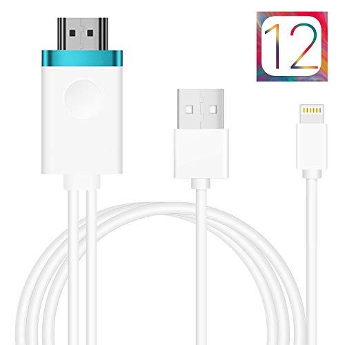 最新版 アイフォンHDMI変換ケーブル Lightning to HDMI接続アダプタ 1080P高解像度対応iPhone iPad ipod 最新iOS自動対応 設定不要 APP不要