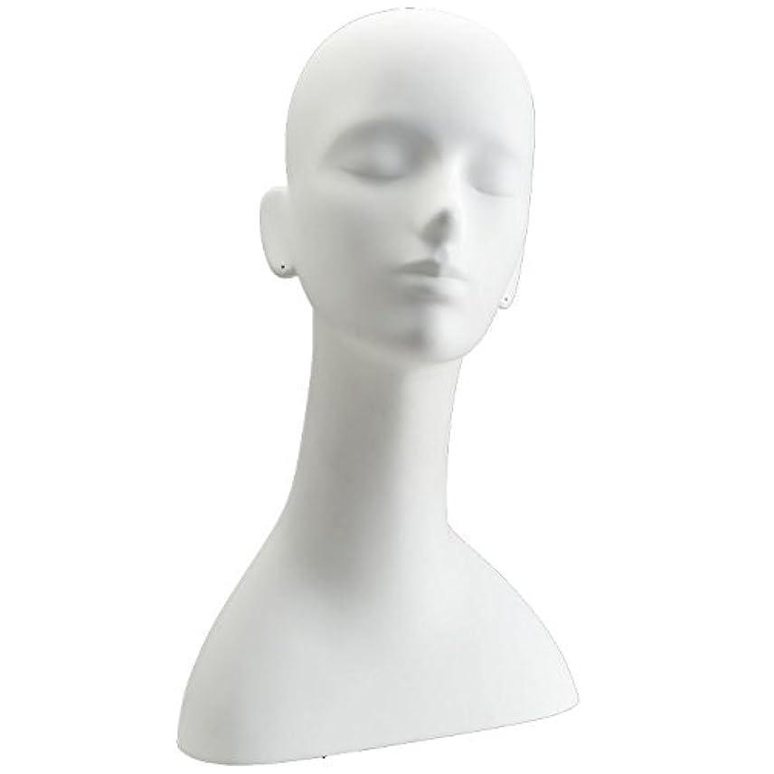 引退する学者香りキイヤ マネキンヘッド ヘッドトルソー ホワイト FRP樹脂製 ピアス穴加工済み TD-R5-25