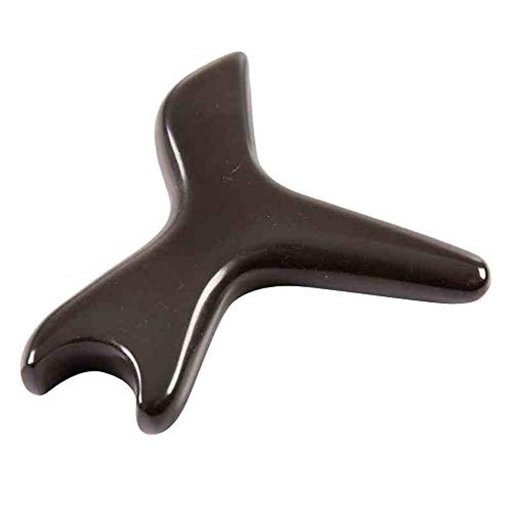 みぞれお世話になった孤児足の針療法のマッサージの処置のための自然な茶色のこする石の針