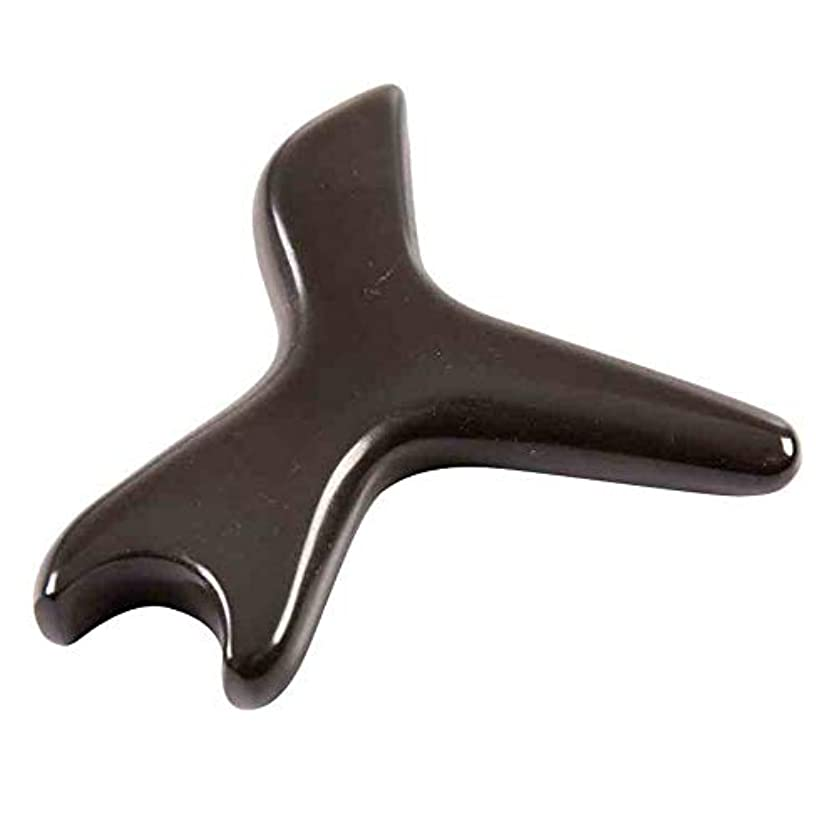 ヘア役員政策足の針療法のマッサージの処置のための自然な茶色のこする石の針