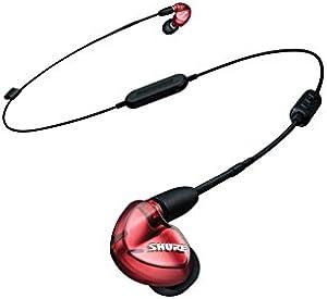 SHURE ワイヤレスイヤホン BT1シリーズ SE535 Bluetooth カナル型 ワイヤレスケーブル/リモコン・マイク付きケーブル付属 レッド SE535LTD+BT1-A【国内正規品】