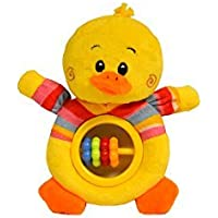 Baberoo Soft Stuffed Animal Toy Abacus Rattle for Babies Duck 5 Inches [並行輸入品]