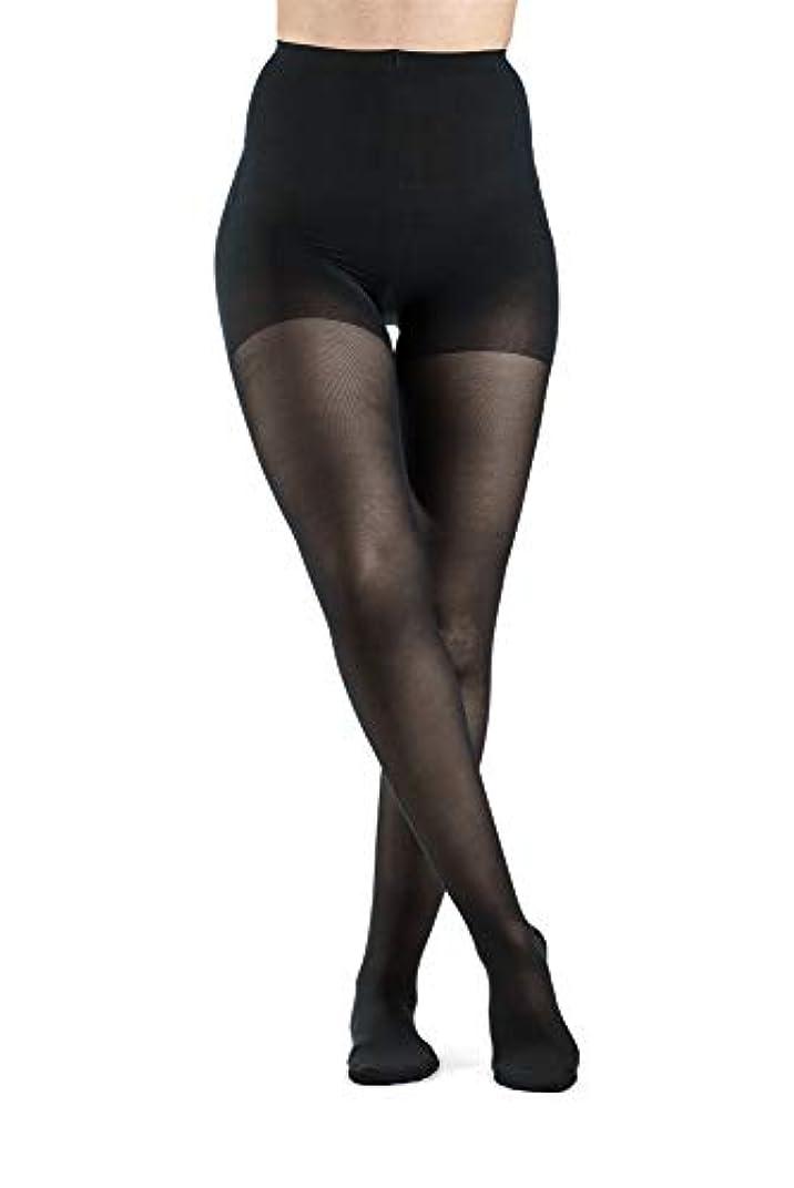 中間サミット笑Sigvaris Ever Sheer Pantyhose 20-30mmHg Women's Closed Toe Long Length, Large Long, Black by Sigvaris