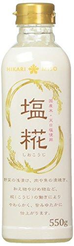 ひかり味噌 塩糀 ボトル 550g