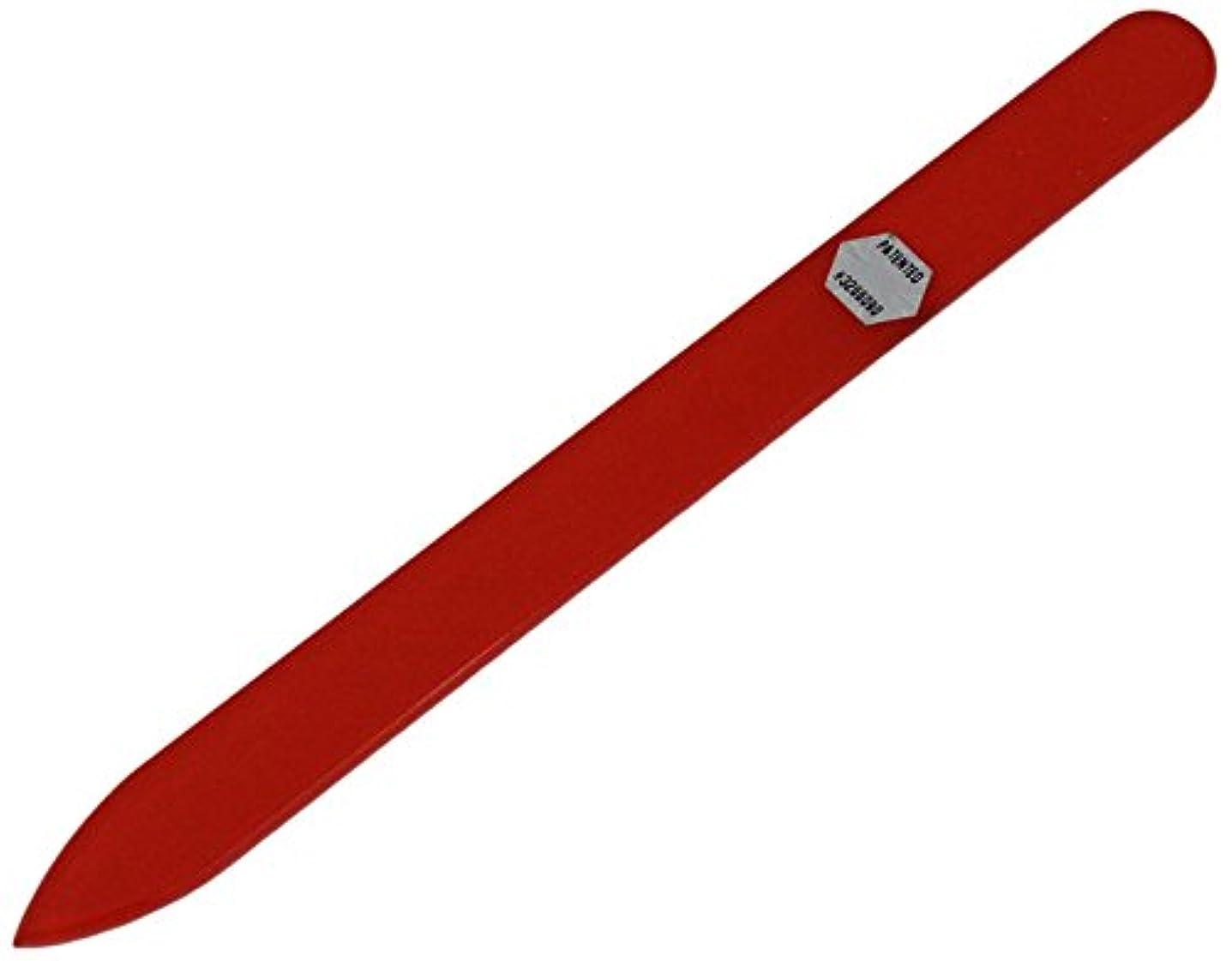記述する小道具バルブブラジェク ガラス爪やすり 140mm 片面タイプ オールカラー オレンジ B-02