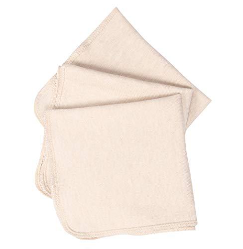 赤ちゃんタオル 無地 オーガニックコットンのハンカチ 柔らかい 25*25㎝ 3枚