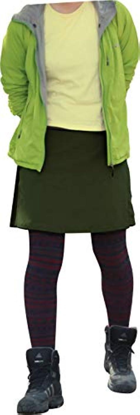 カフェパーティション記者[ラドウェザー]トレッキング スカート キュロット はっ水 防汚 防油 速乾 耐久性 スポーツ アウトドア レディース