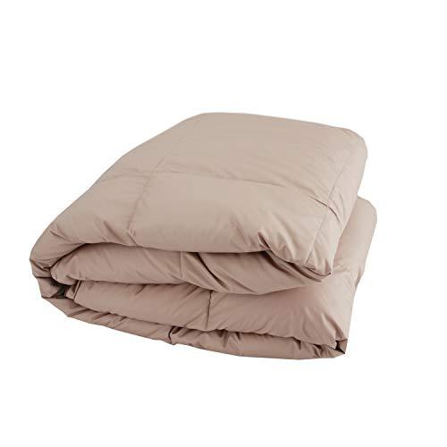 SNOWMAN 洗える ダウンケット シングル ホワイトダウン90% 夏用 羽毛 肌掛け布団 お布団と重ね着で1年中使える 2倍の洗浄度 抗菌 防臭 防ダニ 吸湿・放湿性に優れ 爽やかな寝心地 肌掛け 羽毛布団 150×210cm カーキ 無地