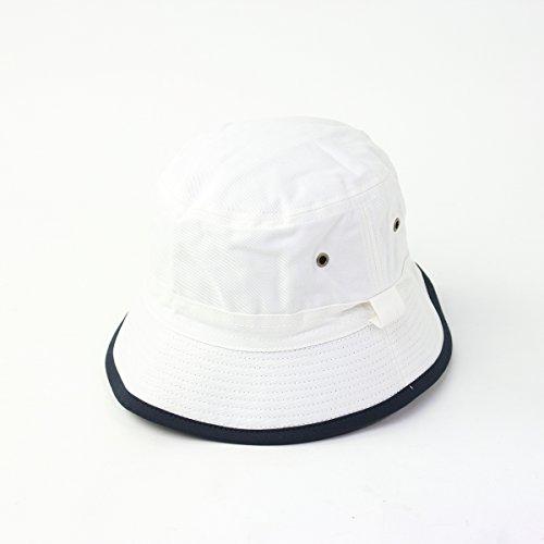 リバーシブル バケットハット メンズ レディース 帽子 (ホワイト/ネイビー, Free)