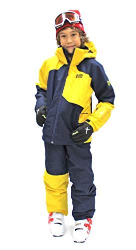EVOL(イボール) スキーウェア キッズ 120~160サイズ サイズ調節可能 つなぎ こども 女の子 男の子 (130cm,...