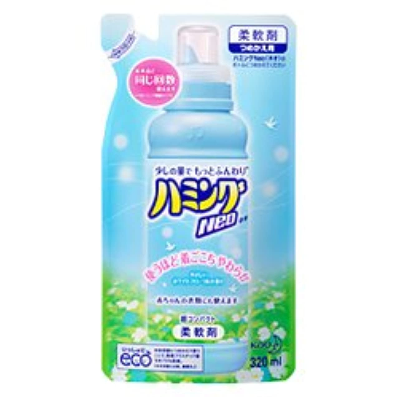 はい黒板ラグ【花王】ハミングNeo ホワイトフローラルの香り <詰替用>320ml ×10個セット