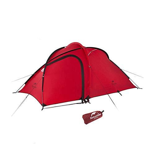 Naturehike 正規店 ネイチャーハイク Hiby 3 アップグレード版 2-3人 超軽量 自立式 テント グランドシート付き 広い前室 二層構造 キャンプ アウトドア 登山 防雨 防風 防災 (赤 20D)