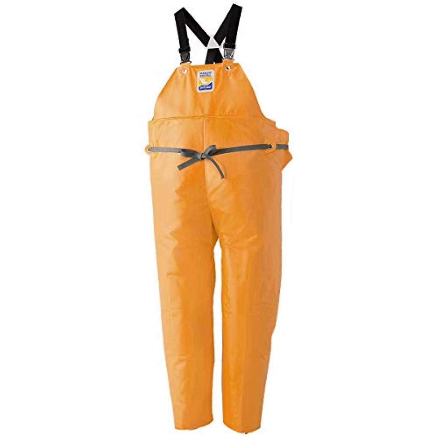 服を片付けるコンパクトデッドロックマリンエクセル(MARINE EXCELL) マリンエクセル 胸当付ズボン膝当て付(サスペンダー式) オレンジ 3L 12063560