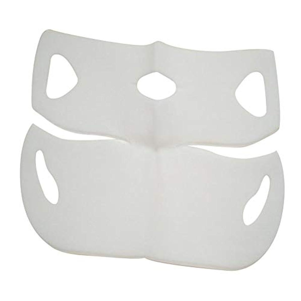 全体法律とにかくSILUN 最新型 4D Vフェイシャルマスク フェイスマスク 小顔 マスク フェイスラインベルト 美顔 顔痩せ 肌ケア 保湿 毛細血管収縮 睡眠マスク