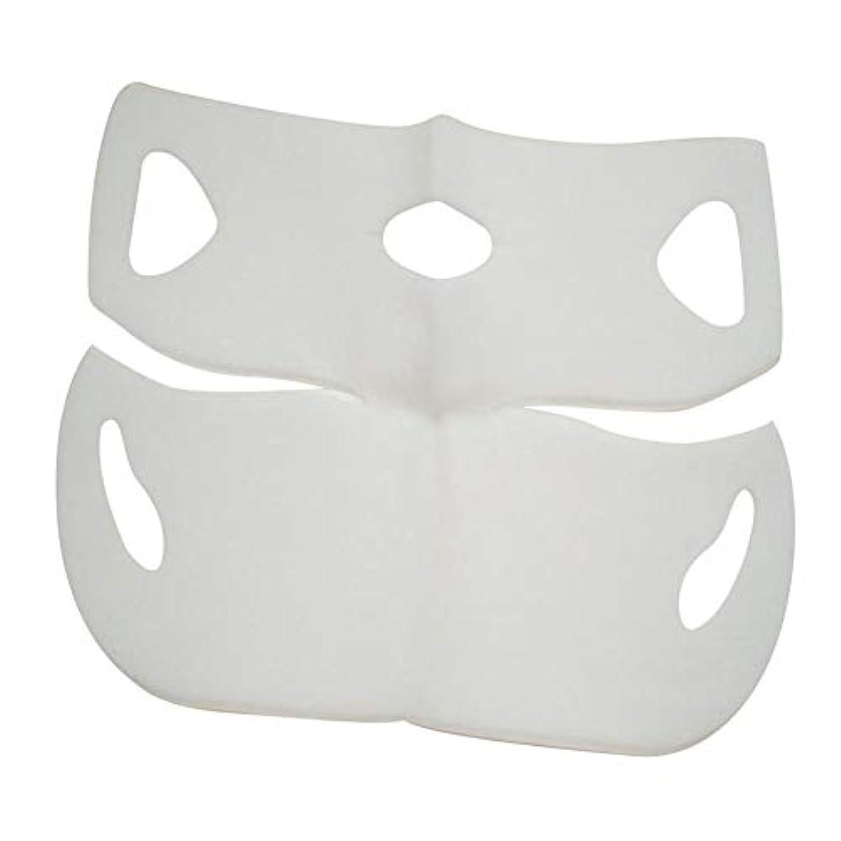 処理子三角SILUN 最新型 4D Vフェイシャルマスク フェイスマスク 小顔 マスク フェイスラインベルト 美顔 顔痩せ 肌ケア 保湿 毛細血管収縮 睡眠マスク