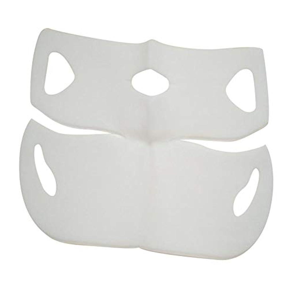 間欠エイズ叙情的なSILUN 最新型 4D Vフェイシャルマスク フェイスマスク 小顔 マスク フェイスラインベルト 美顔 顔痩せ 肌ケア 保湿 毛細血管収縮 睡眠マスク