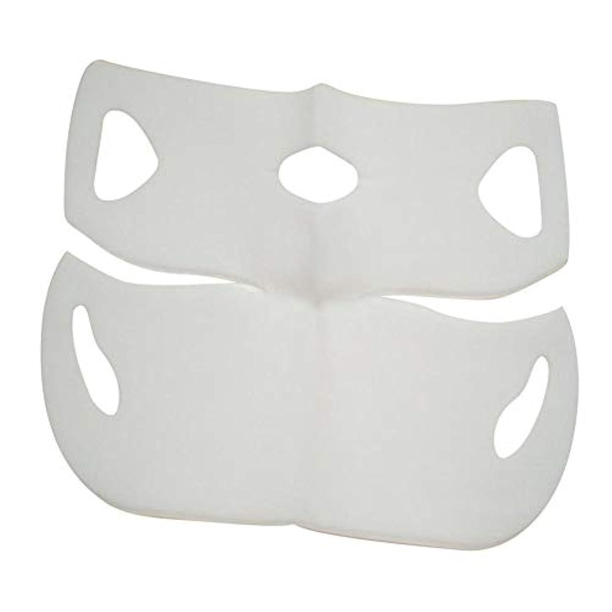 水っぽい策定する追い越すSILUN 最新型 4D Vフェイシャルマスク フェイスマスク 小顔 マスク フェイスラインベルト 美顔 顔痩せ 肌ケア 保湿 毛細血管収縮 睡眠マスク
