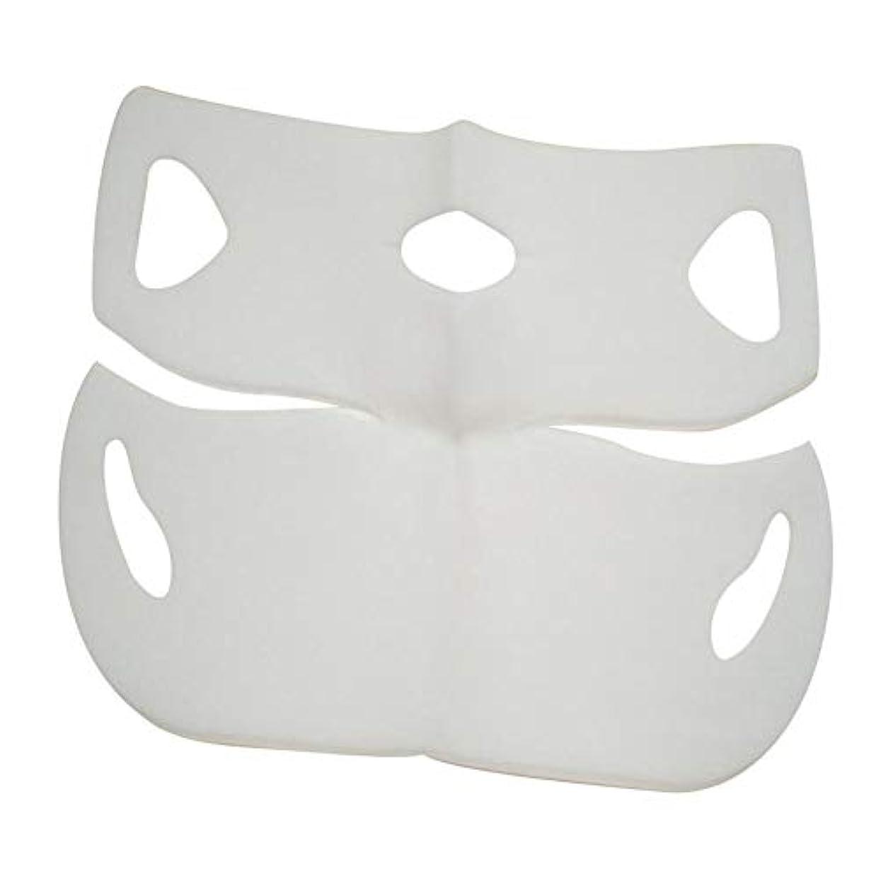 技術的な等祈りSILUN 最新型 4D Vフェイシャルマスク フェイスマスク 小顔 マスク フェイスラインベルト 美顔 顔痩せ 肌ケア 保湿 毛細血管収縮 睡眠マスク