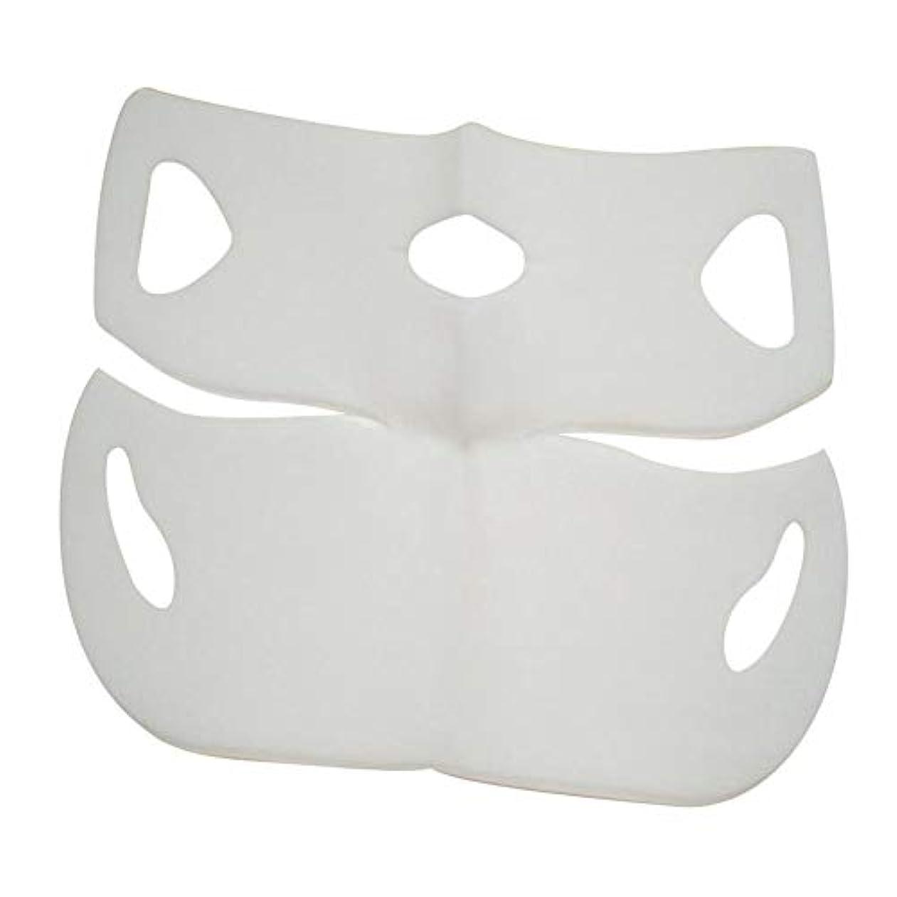 冷蔵するカストディアンシロクマSILUN 最新型 4D Vフェイシャルマスク フェイスマスク 小顔 マスク フェイスラインベルト 美顔 顔痩せ 肌ケア 保湿 毛細血管収縮 睡眠マスク