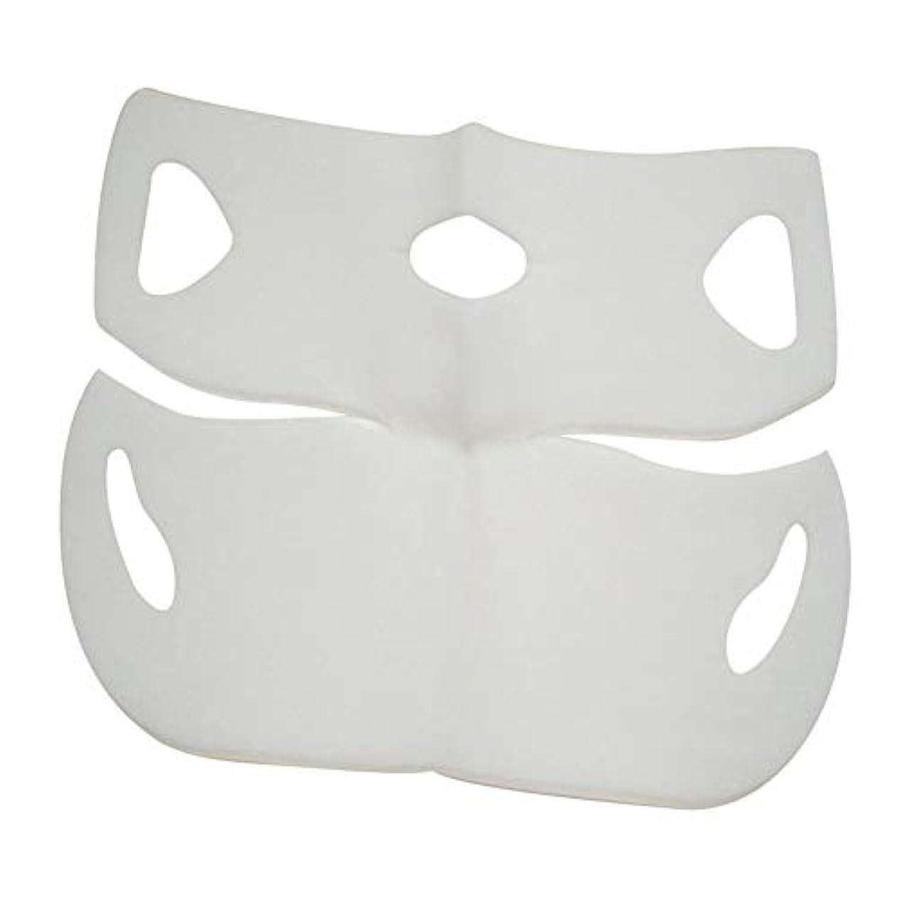 うなる物理的に前部SILUN 最新型 4D Vフェイシャルマスク フェイスマスク 小顔 マスク フェイスラインベルト 美顔 顔痩せ 肌ケア 保湿 毛細血管収縮 睡眠マスク