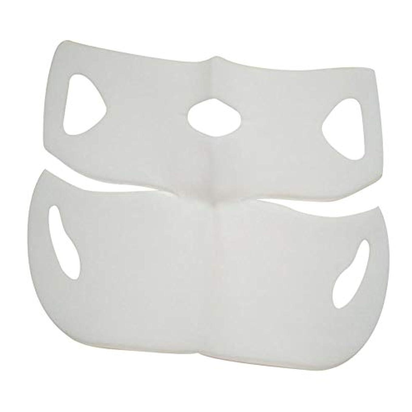 自伝現像押し下げるSILUN 最新型 4D Vフェイシャルマスク フェイスマスク 小顔 マスク フェイスラインベルト 美顔 顔痩せ 肌ケア 保湿 毛細血管収縮 睡眠マスク