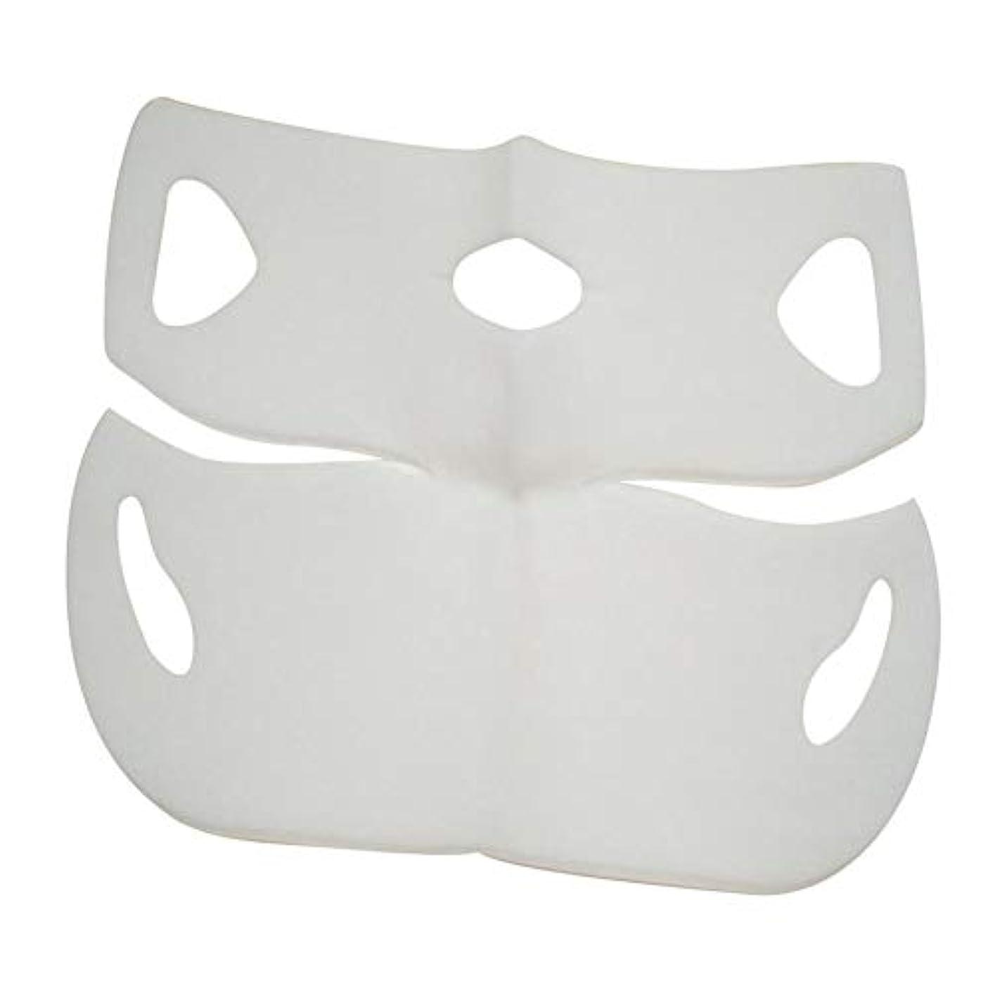 工業用手伝うSILUN 最新型 4D Vフェイシャルマスク フェイスマスク 小顔 マスク フェイスラインベルト 美顔 顔痩せ 肌ケア 保湿 毛細血管収縮 睡眠マスク