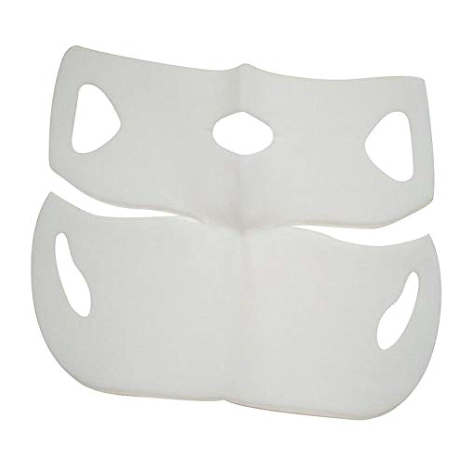 国民派生する鋼SILUN 最新型 4D Vフェイシャルマスク フェイスマスク 小顔 マスク フェイスラインベルト 美顔 顔痩せ 肌ケア 保湿 毛細血管収縮 睡眠マスク