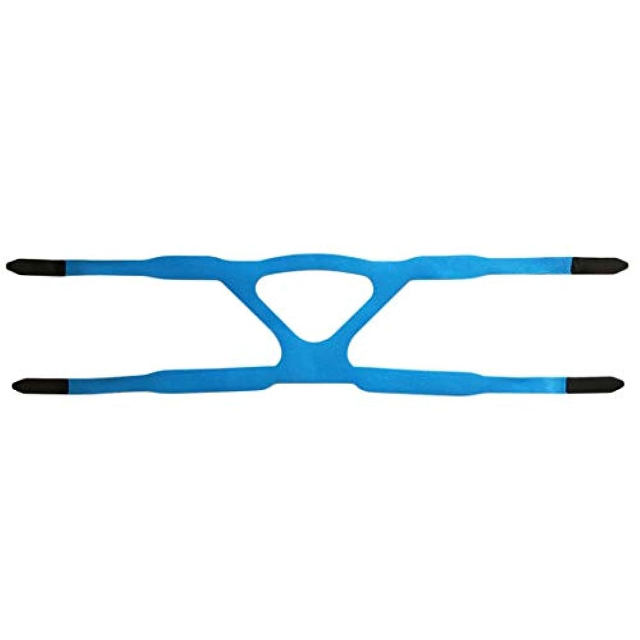 純粋に有効屋内でユニバーサルヘッドギアコンフォートジェルフルマスク安全な環境での取り替えCPAPヘッドバンドなしPHILPSに適した - ブルー&グレー
