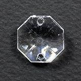 プラビーズ(アクリルビーズ)・オクタゴン八角形 15mm クリスタル透明 20コ入りのサービスパック!(2ホールタイプ)