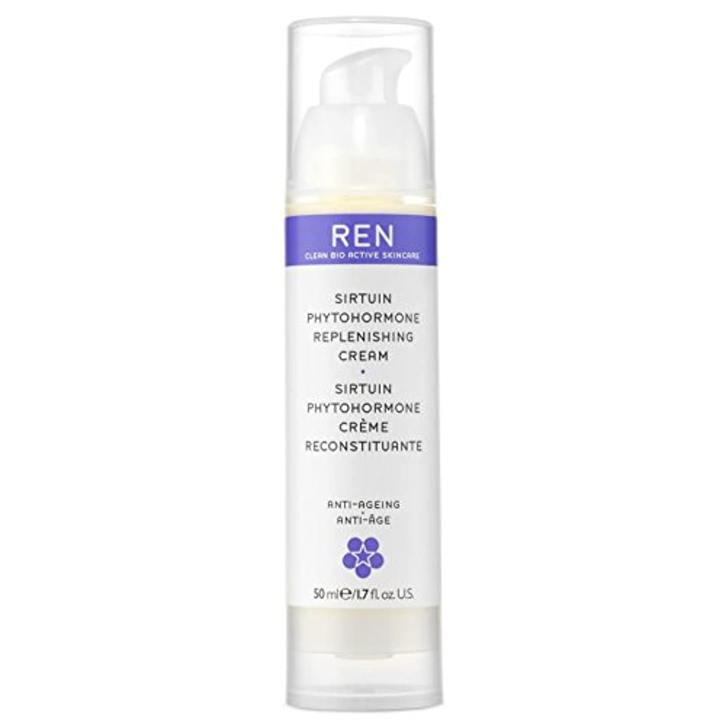 革命重要な日常的にREN Sirtuin Phytohormone Replenishing Cream - サーチュイン植物ホルモン補充クリーム [並行輸入品]