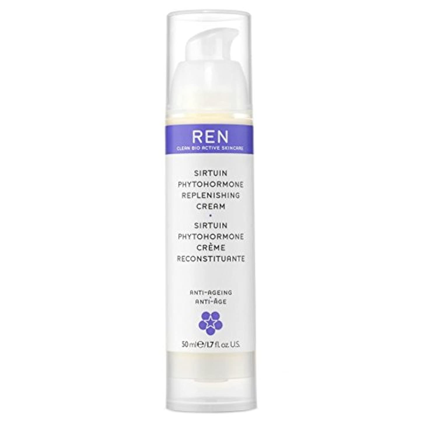 REN Sirtuin Phytohormone Replenishing Cream - サーチュイン植物ホルモン補充クリーム [並行輸入品]