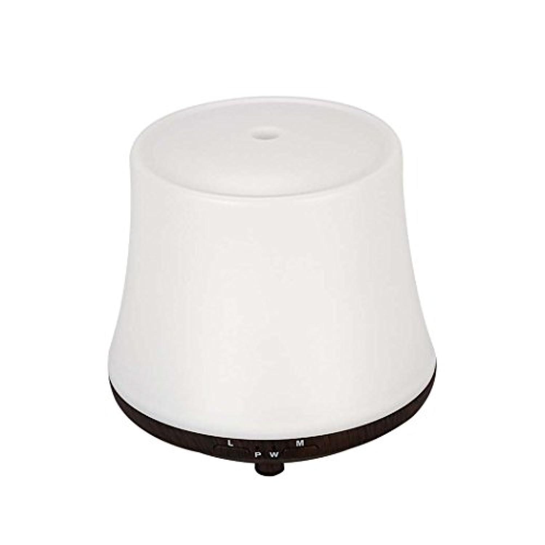 エッセンシャルオイルディフューザー超音波ミュート加湿器芳香ランプ空気浄化7色LEDナイトライト (色 : Light wood grain)