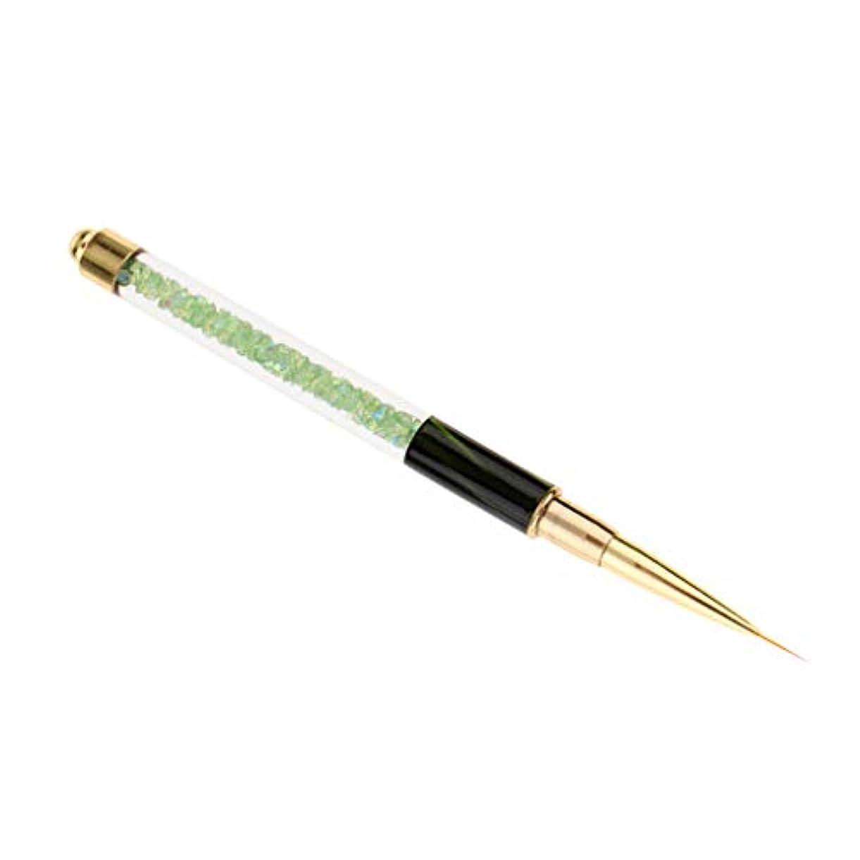 君主制質素な悪のプロのネイルアートブラシUVジェルポリッシュデッサンライナー絵画デザインペン - 緑