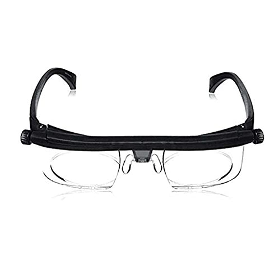 眠いです失望させるデジタル調節可能な焦点距離老眼鏡,ハーフ フレーム読者 虫眼鏡 な 軽量 ユニ-A