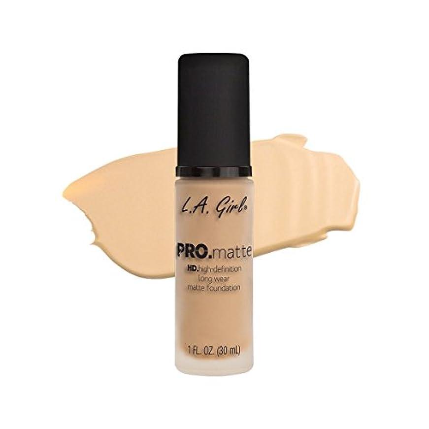 明るくする接触余分な(3 Pack) L.A. GIRL Pro Matte Foundation - Ivory (並行輸入品)