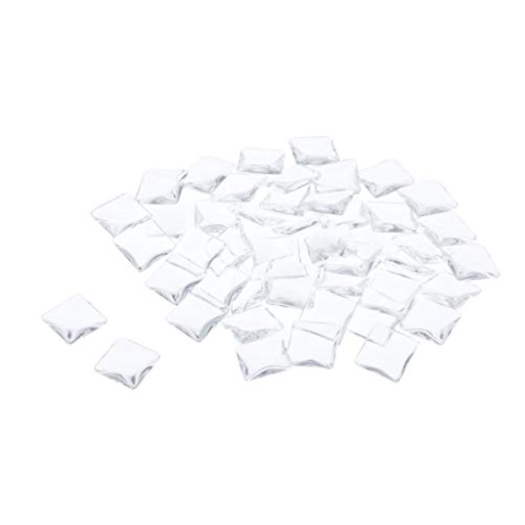 屋内胸グループDYNWAVE ネイルチップ クリア ネイルフルチップ スクエアタイプ 透明 ネイルカラーディスプレイ カード 全7種 - 平方